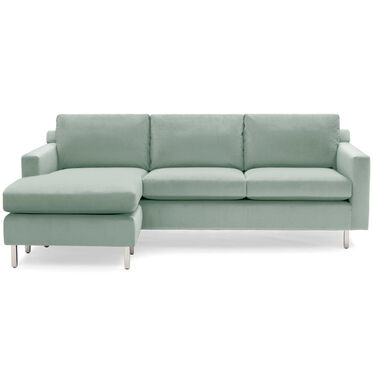 HUNTER STUDIO NO WELT LEFT CHAISE SECTIONAL, PIPPIN - SKY BLUE, hi-res