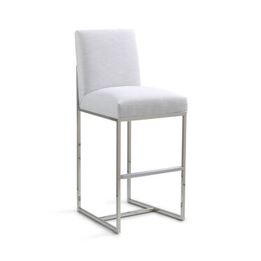 GAGE BAR STOOL - POLISHED STAINLESS STEEL, SOL - SILVER, hi-res