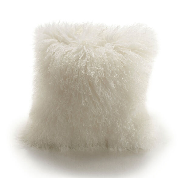 TIBETAN WOOL IVORY 16 IN. SQUARE THROW PILLOW, , hi-res