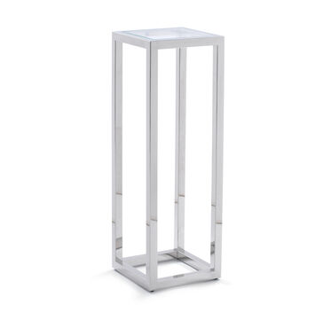 PERCH DISPLAY PEDESTAL - POLISHED STAINLESS STEEL, , hi-res