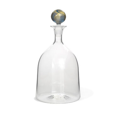 WIDE DECANTER - BLUE STOPPER, , hi-res