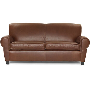 PHILIPPE LEATHER 2 SEAT SOFA, PENLAND - TOBACCO, hi-res