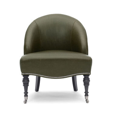 MAE LEATHER CHAIR, MONT BLANC - WINTER PINE, hi-res