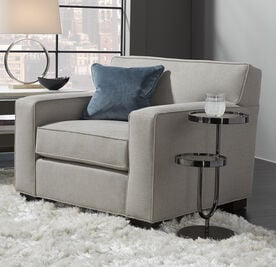 JEAN LUC CHAIR, Performance Textured pebble Weave - PEWTER                             , hi-res