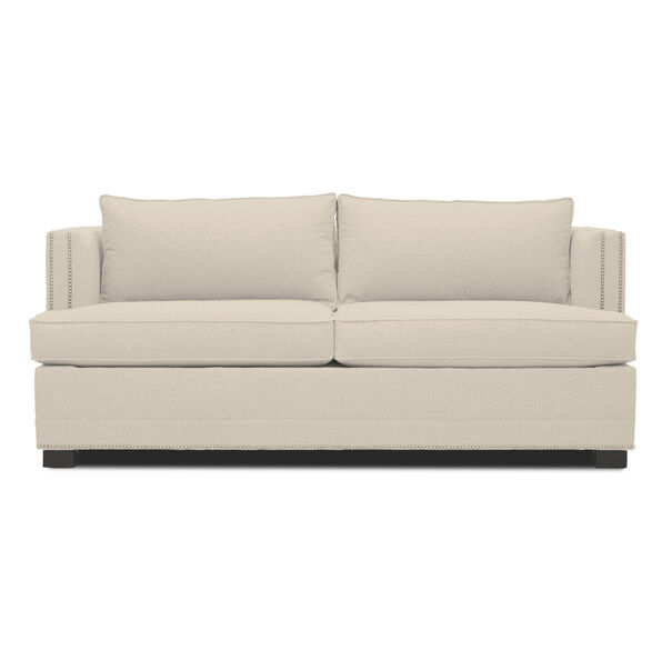KEATON SHELTER ARM SUPER LUXE QUEEN SLEEPER CLASSIC DEPTH WITH NAILHEAD, FULMER - LINEN, hi-res