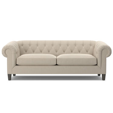 ADDISON NO NAIL SOFA, Performance Velvet - ECRU, hi-res