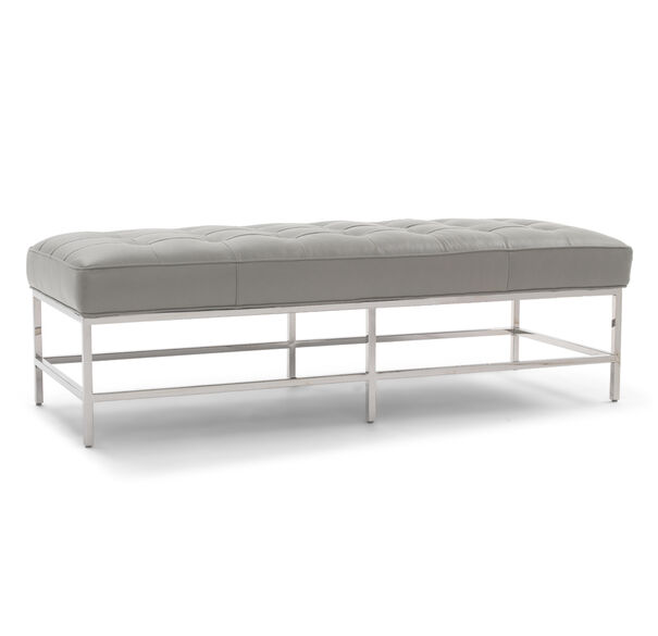 MAJOR LEATHER BENCH OTTOMAN, VANCE - DRIFTWOOD, hi-res