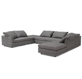 BIG EASY 8-PC SECTIONAL, Sunbrella Performance Textured Two-Tone Linen - TAUPE                             , hi-res