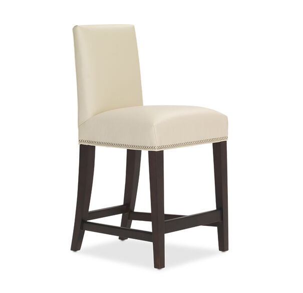 ANTHONY LEATHER COUNTER STOOL, CORDELL - DOVE, hi-res