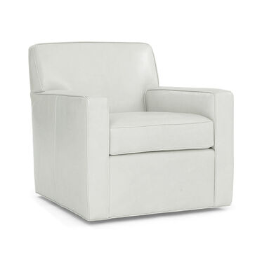 FELIX LEATHER SWIVEL CHAIR, HIGHLAND - SILVER, hi-res