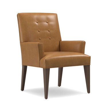 OLIVER LEATHER ARM DINING CHAIR, MUSKOGEE - OAK, hi-res