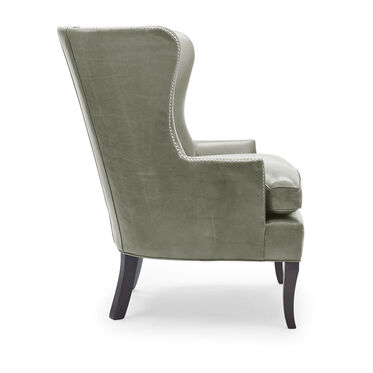 WILL LEATHER CHAIR, MONT BLANC - FERN, hi-res