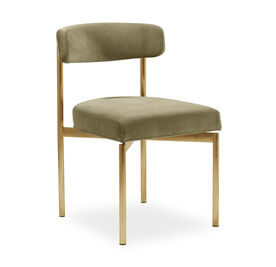 REMY DINING CHAIR - BRUSHED BRASS, Performance Velvet - MOSS, hi-res