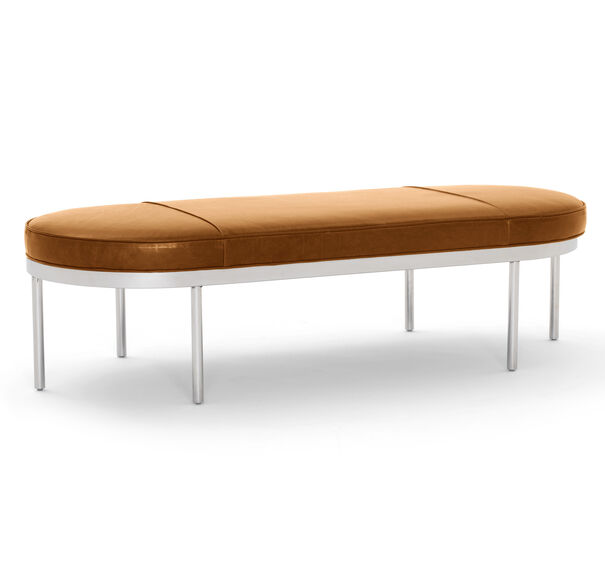 COLBURN LEATHER COCKTAIL OTTOMAN, MONT BLANC - FAWN, hi-res