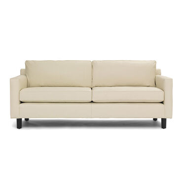 HUNTER STUDIO LEATHER SOFA, TRIBECA - CREAM, hi-res