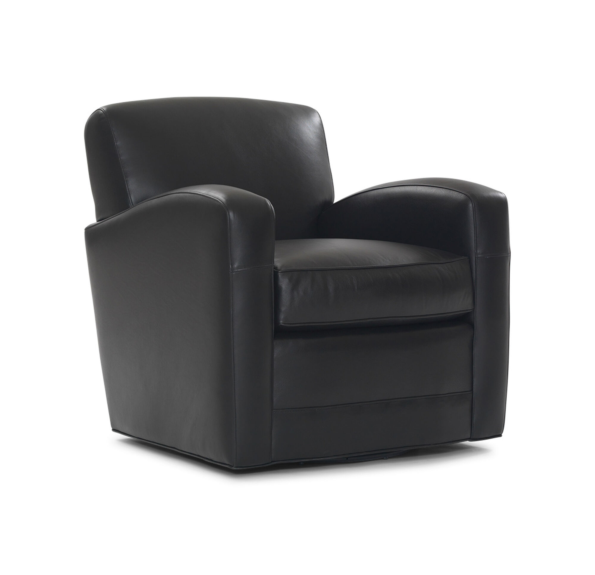 Popular 259 list leather swivel club chair for Swivel club chair leather