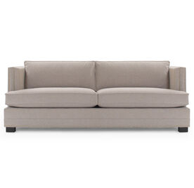 KEATON SHELTER ARM SOFA CLASSIC DEPTH WITH NAILHEAD, Tone on Tone Chenille - TAUPE, hi-res