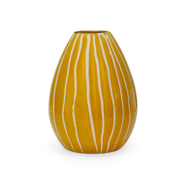 SAFFRON STRIPED VASE, , hi-res