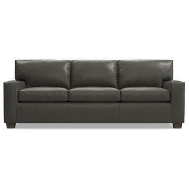 ALEX LEATHER SOFA, MANCHESTER - GRAPHIT, hi-res