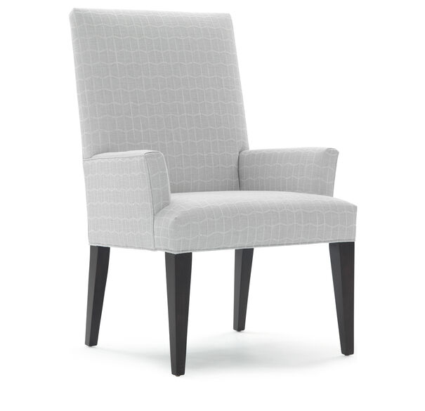 ANTHONY TALL ARM DINING CHAIR, HADLEY - SILVER, hi-res