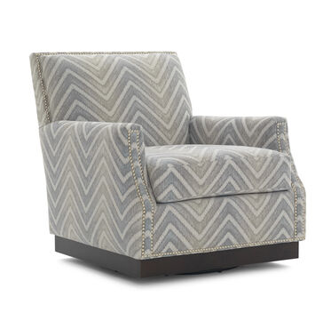 BENSON FULL SWIVEL CHAIR, CAMDEN - AQUA, hi-res