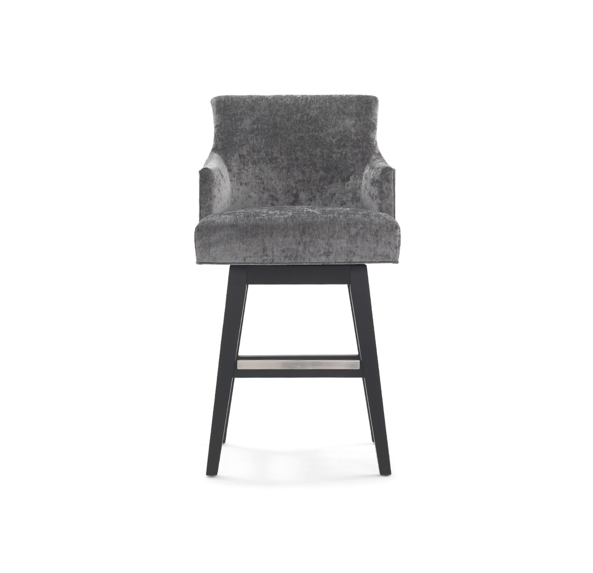 Ada return swivel bar stool with arms