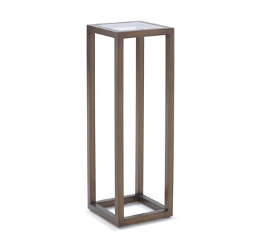 PERCH DISPLAY PEDESTAL - ANTIQUE BRASS, , hi-res