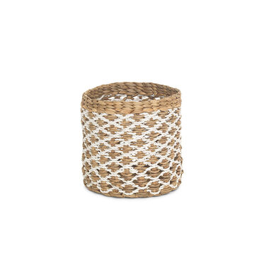 SMALL ROUND WOVEN BASKET, , hi-res