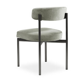 REMY DINING CHAIR - PEWTER, Performance Velvet - PATINA, hi-res