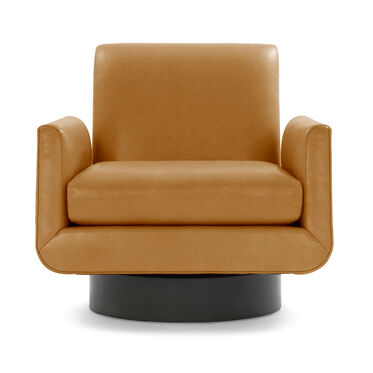 SUPERNOVA LEATHER RETURN SWIVEL CHAIR, MONT BLANC - FAWN, hi-res
