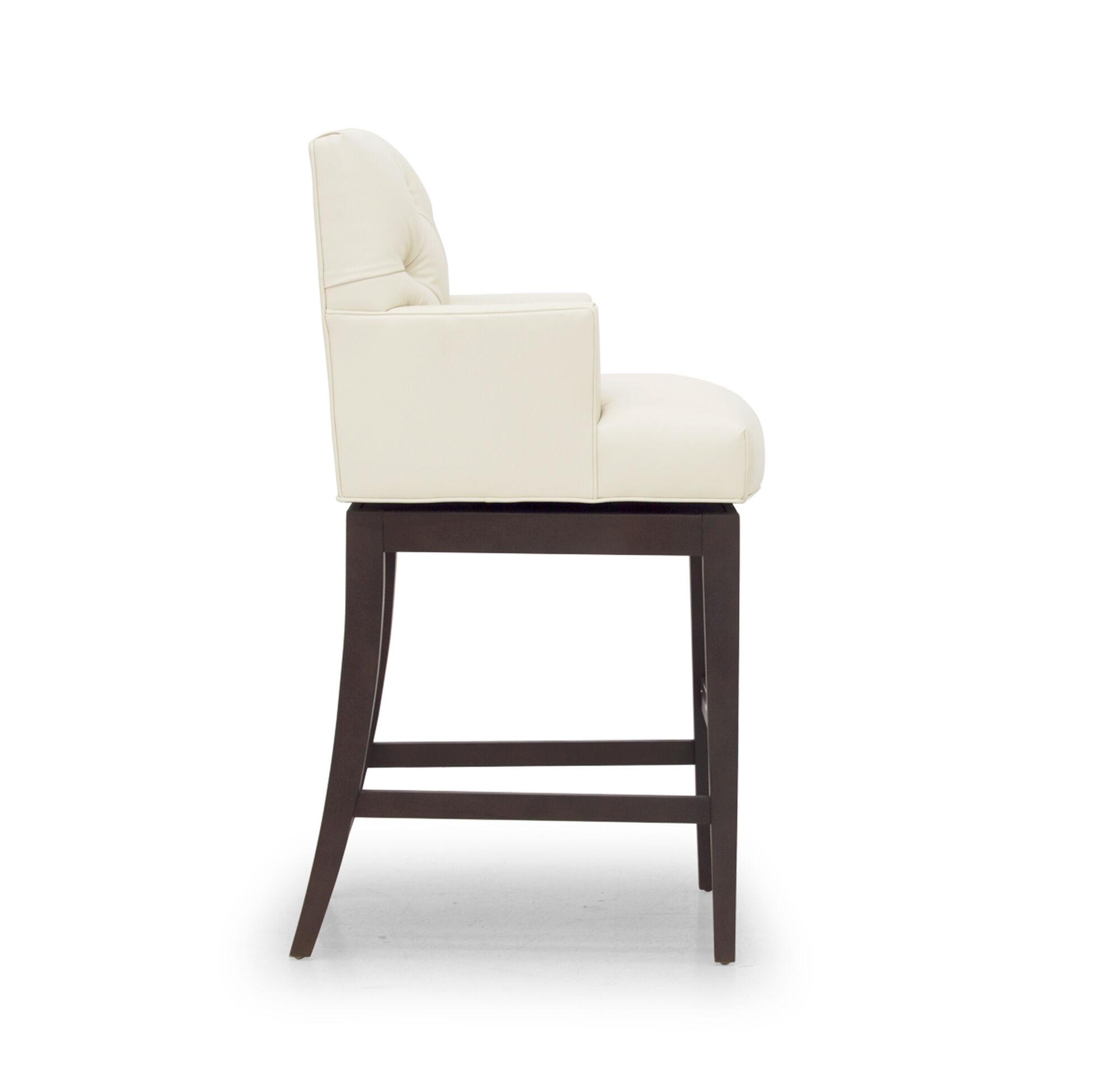 Jacques leather swivel bar stool