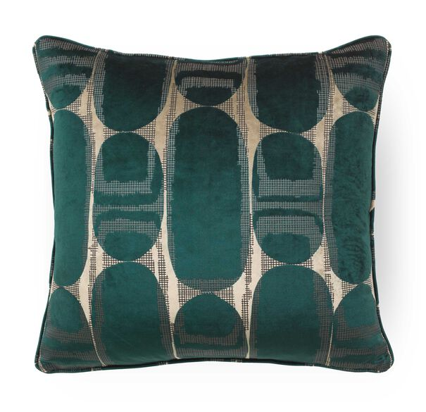 "VELVET 22"" X 22"" ACCENT PILLOW, HAVEN - TOURMALINE, hi-res"