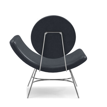 ELROY LEATHER RIGHT ARM CHAIR, MONT BLANC - BLUE SMOKE, hi-res