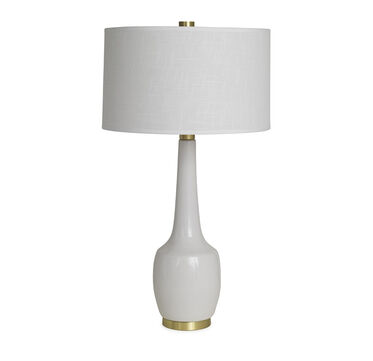 NOLA LILY WHITE TABLE LAMP, , hi-res