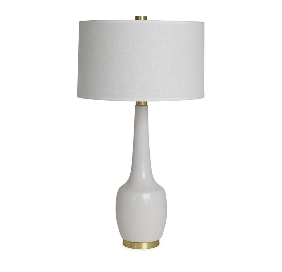 NOLA LILY WHITE TABLE LAMP, , Hi Res