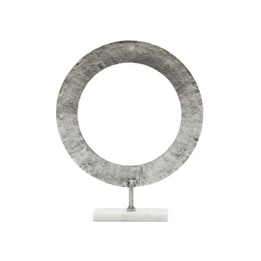 LARGE HAMMERED RING ON STAND, , hi-res