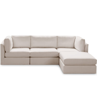 FRANCO II 4 PIECE SECTIONAL, TERRACE - ALMOND, hi-res