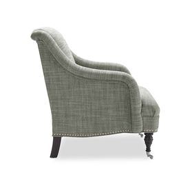 ODETTE CHAIR, Two Tone Heavy Weight Basket Weave - FERN                             , hi-res