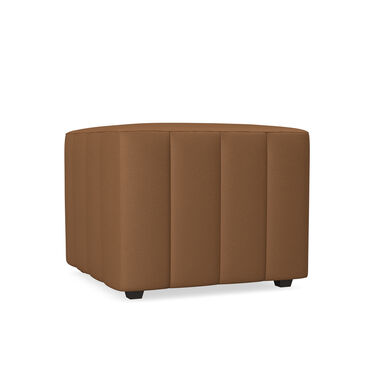 FRANNY LEATHER SQUARE CHANNELED OTTOMAN, , hi-res