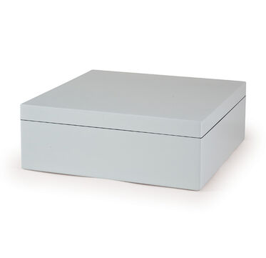 WHITE LACQUER BOX - EXTRA LARGE, , hi-res