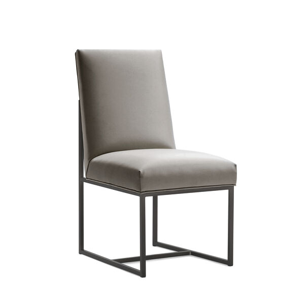 GAGE LOW DINING CHAIR - PEWTER, , hi-res