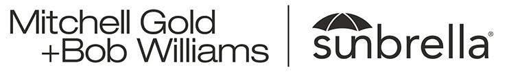 Mitchell Gold Bob Williams and Sunbrella Logos