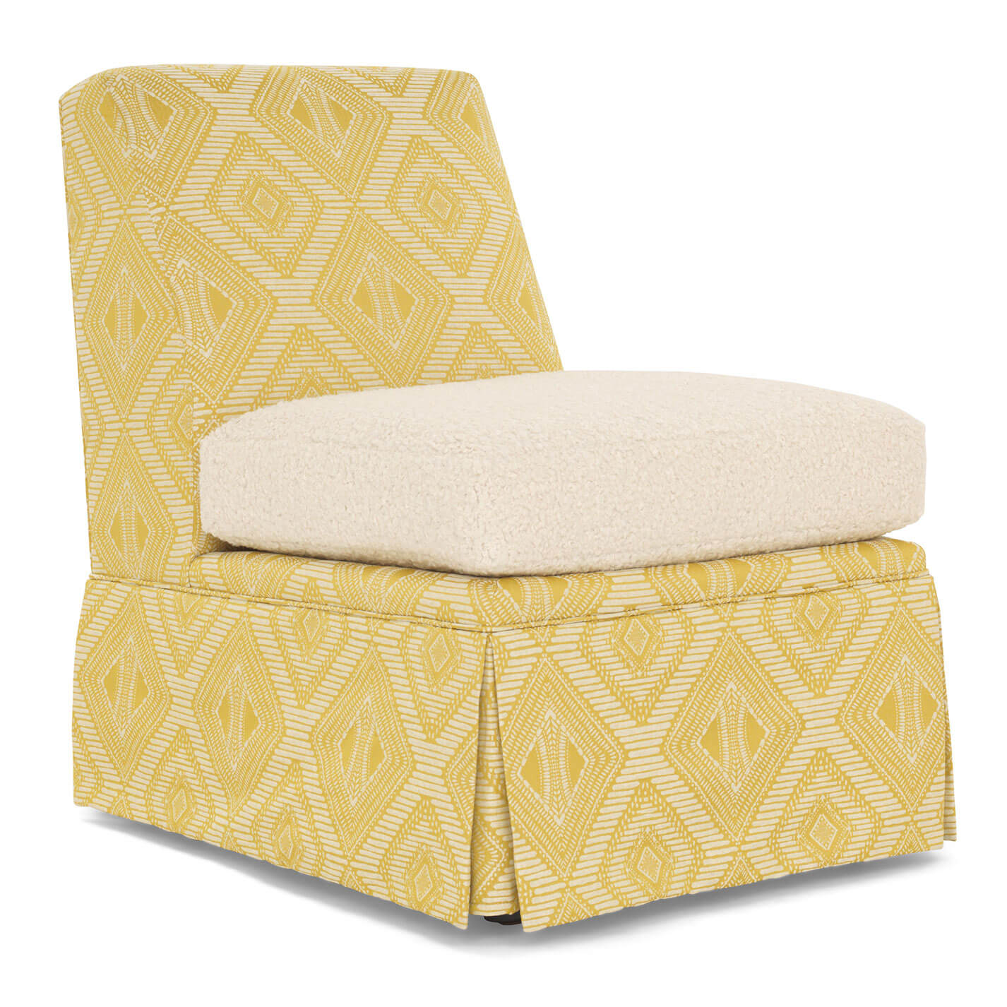 Annie Skirted Chair with contrast cushion