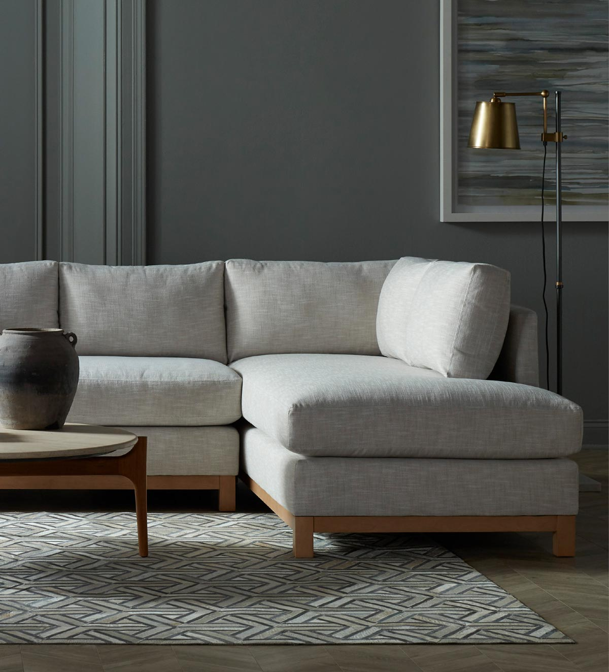 Living room setting with Sofa and Sectionals