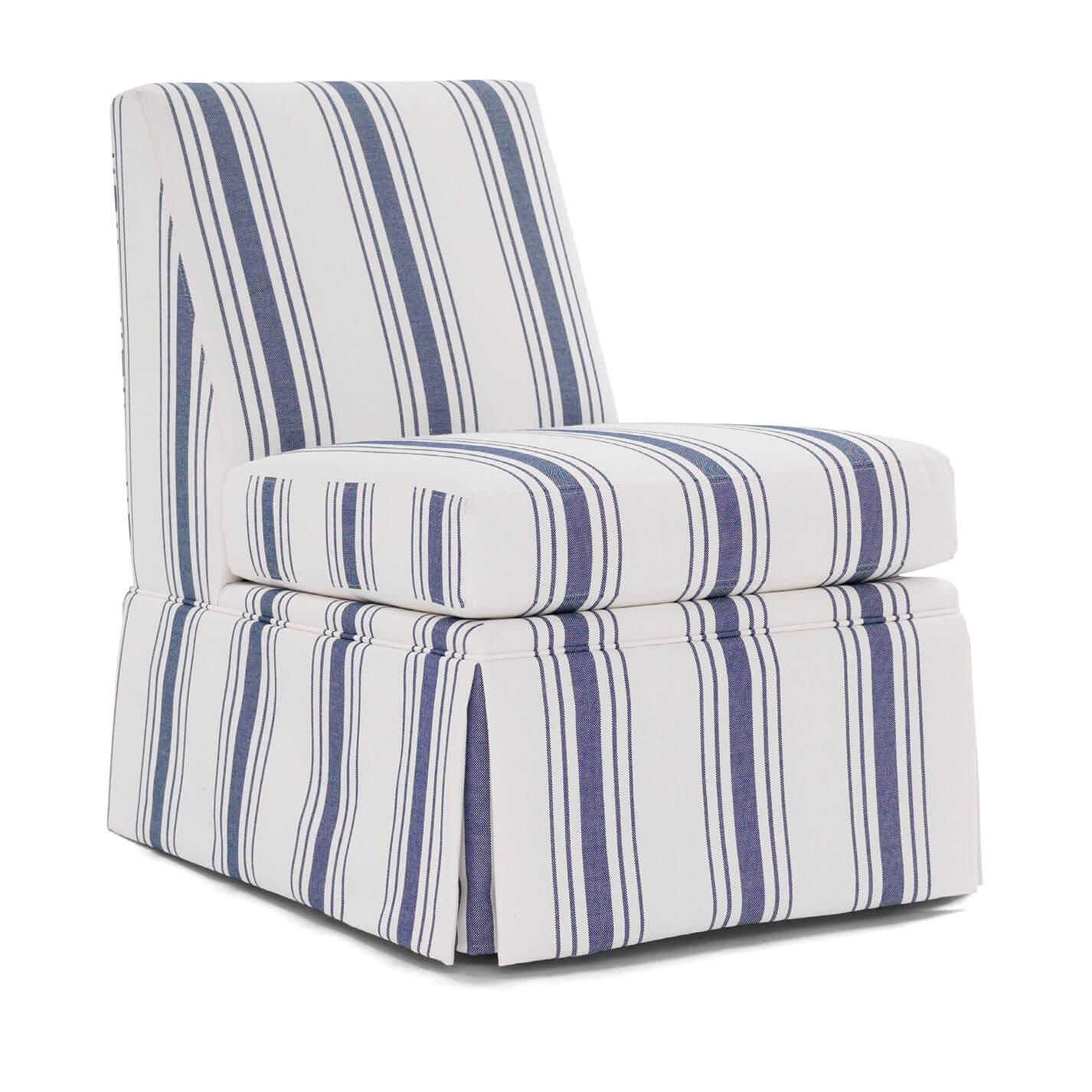 Annie Skirted Chair Corner View