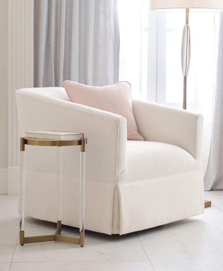 Cooper Skirted Swivel Chair