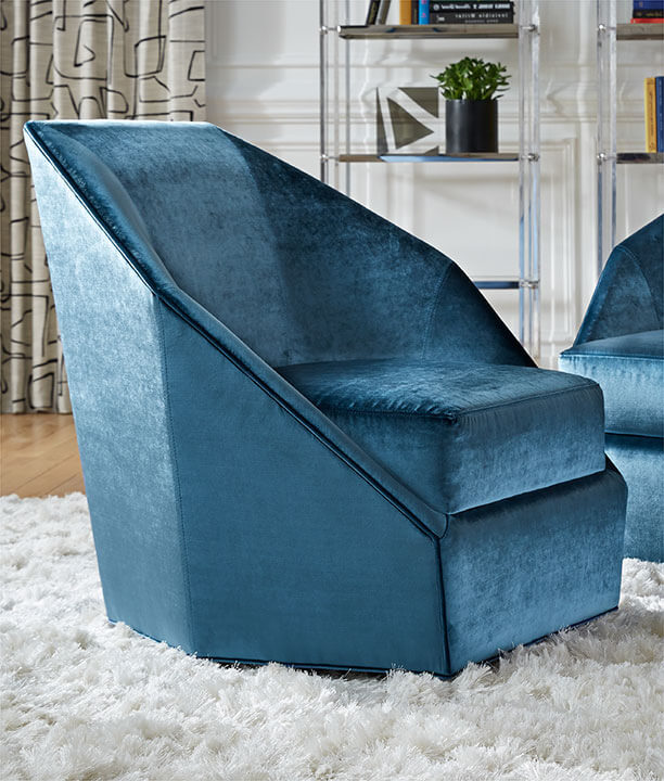 Jewel Swivel Chair in Everson-Harbor