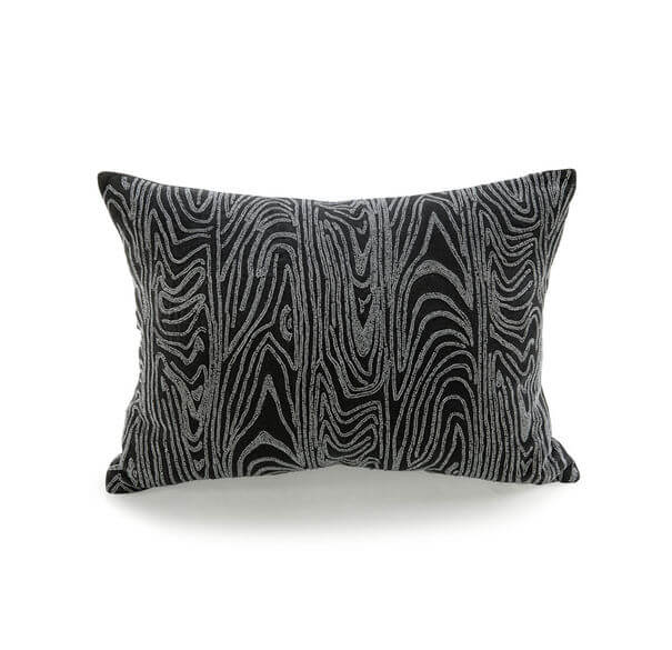 Beaded Faux Bois Pillow