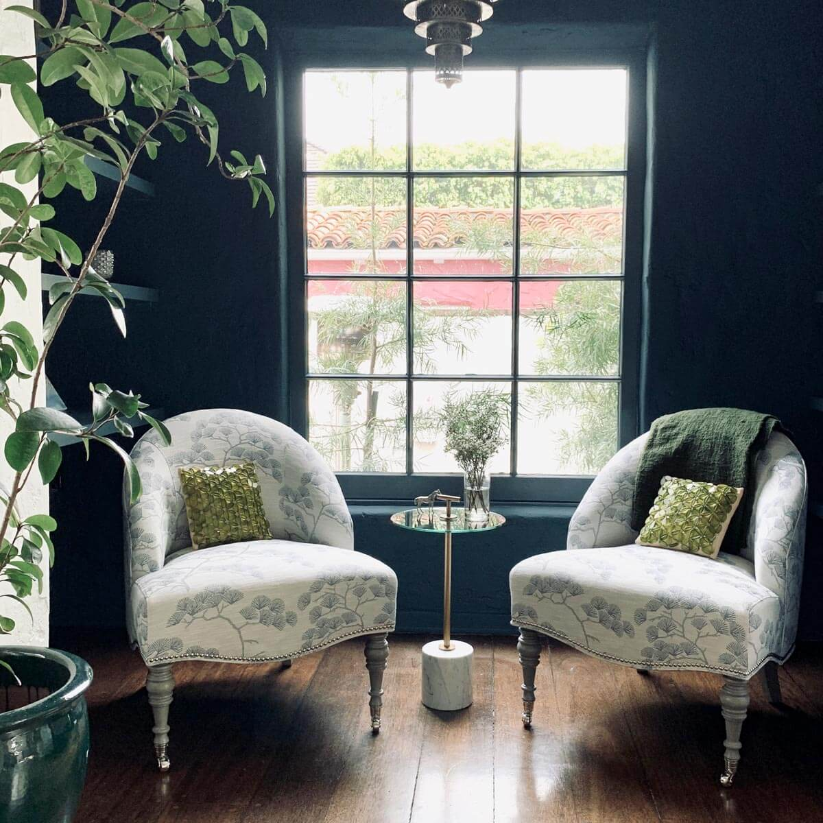 Pair of Mae Chairs with Handler Pull-Up Table