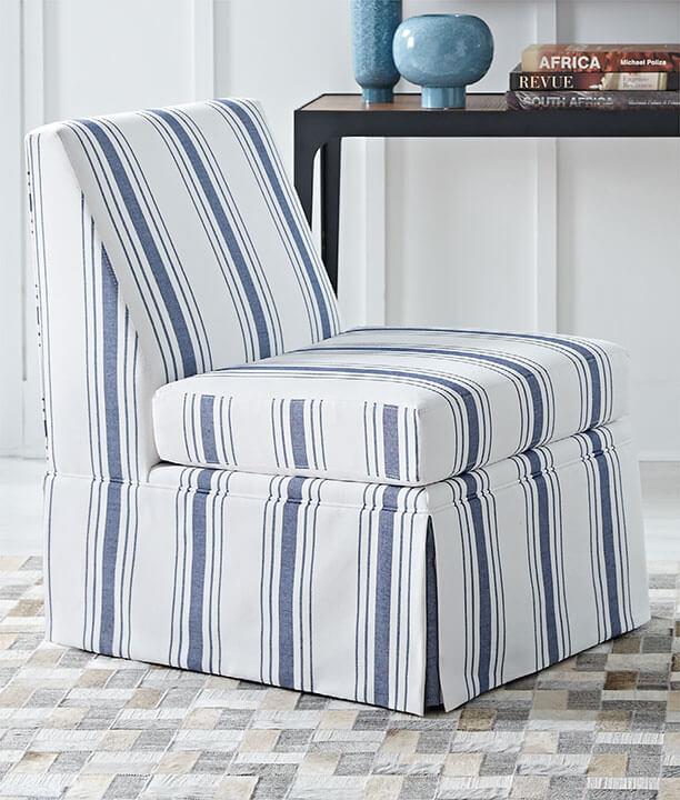 Annie Chair in Salvador-Indigo